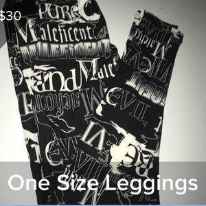 LULAROE OS MALEFICENT LEGGINGS